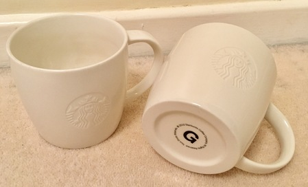 Starbucks City Mug Etched Siren Logo Grande Mug 2010
