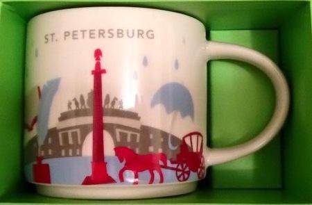 Starbucks City Mug St Petersburg YAH