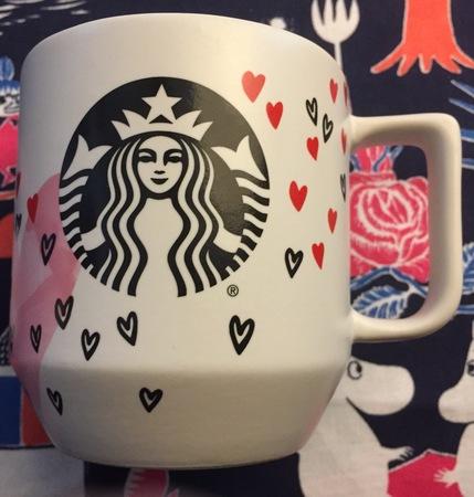 Starbucks City Mug 2017 Valentine's Day Hearts Mug