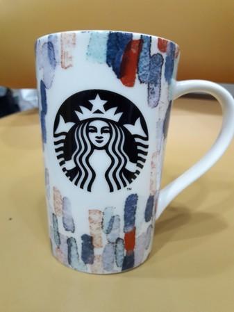 Starbucks City Mug 2016 starbucks black syren logo and water color hand painting #1