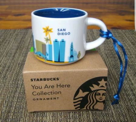 Starbucks City Mug You Are Here in San Diego Ornament