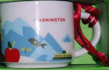 Starbucks City Mug You Are Here in Washington Ornament