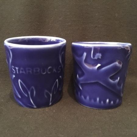Starbucks City Mug Vintage Cobalt Blue Air & Sea 3oz Demitasse