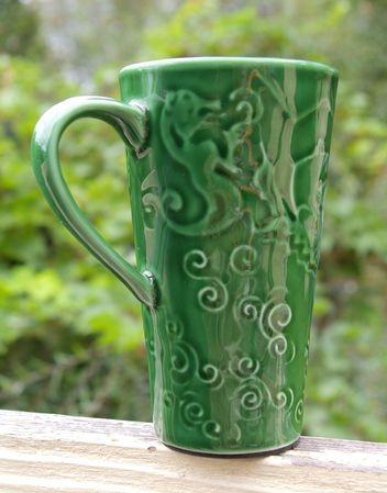 Starbucks City Mug Vintage green travel mug from Chaleur