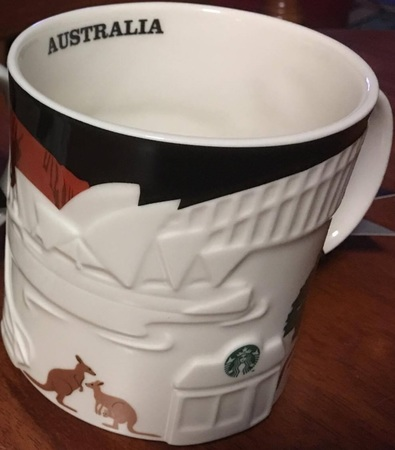 Starbucks City Mug 2016 Australia Black Relief