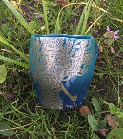 Starbucks City Mug 2017 Swirl Golden Siren Mug