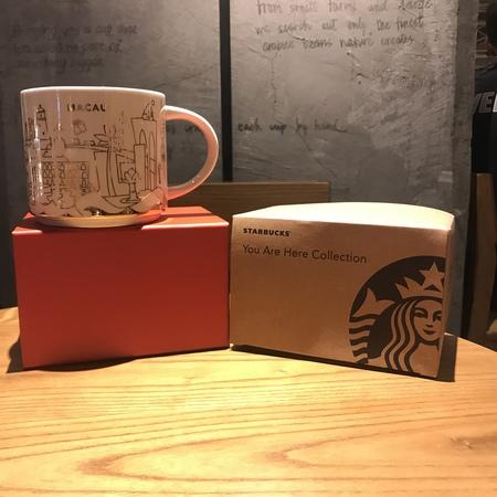 Starbucks City Mug Macau Christmas Gold YAH 2017