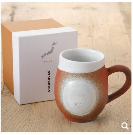 Starbucks City Mug Japan Shigaraki Mug Gold
