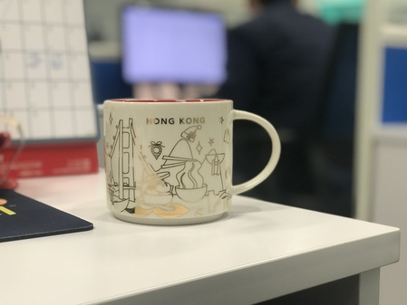 Starbucks City Mug 2017 Hong Kong Christmas Gold YAH