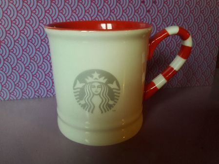 Starbucks City Mug 2017 Vintage Candy Cane mug 10 oz