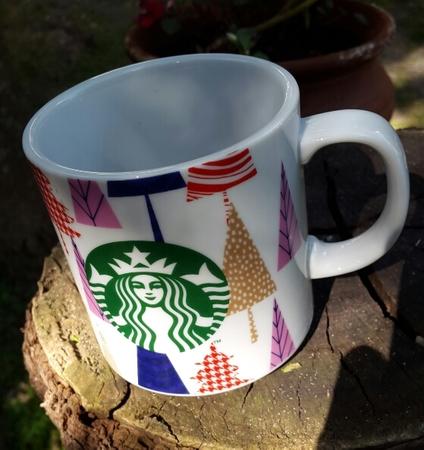 Starbucks City Mug 2017 Argentine Christmas Edition Tree Motive 13 oz