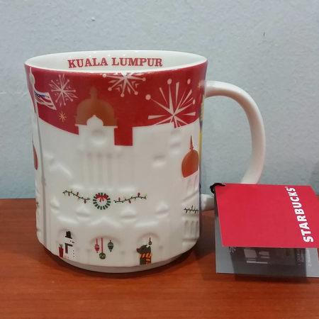 Starbucks City Mug 2017 Kuala Lumpur Red Relief