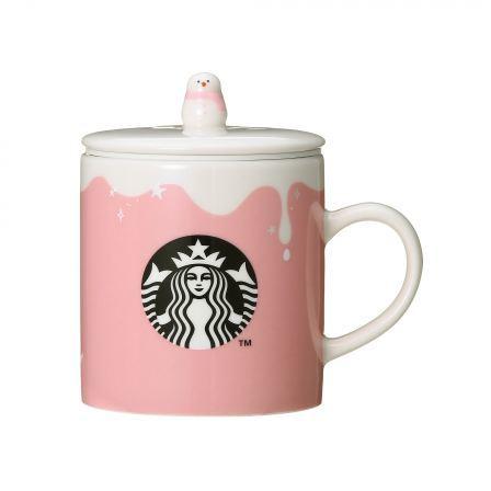 Starbucks City Mug 2017 Pink Snowman Mug with Lid