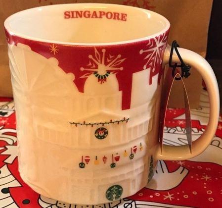 Starbucks City Mug 2017 Singapore Red Relief