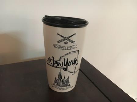 Starbucks City Mug 2017 NY State Double Wall Traveler Mug