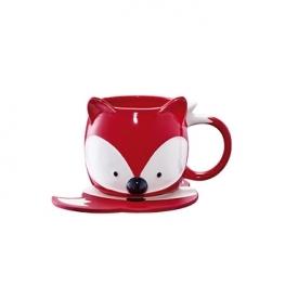 Starbucks City Mug 2017 Christmas Red Fox Mug Set