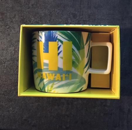 Starbucks City Mug 2016 HI Hawaii Tropical Yellow