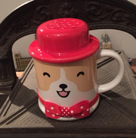 Starbucks City Mug 2018 Dog with Red Hat Lid Mug