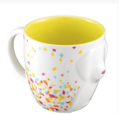 Starbucks City Mug 2018 Year of the Dog Yellow Confetti Relief Mug