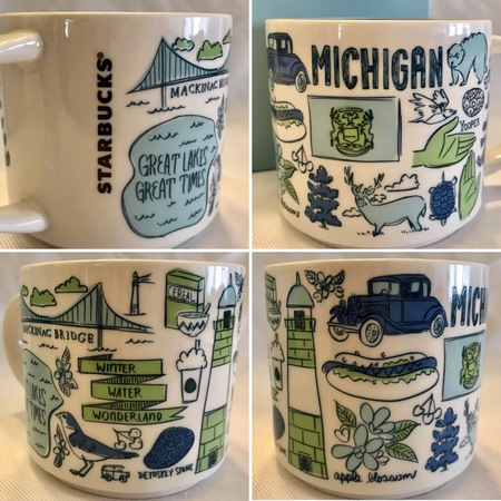 Starbucks City Mug Been There Michigan