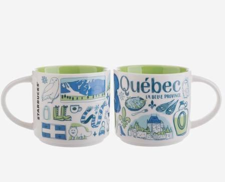 Starbucks City Mug Been There Québec