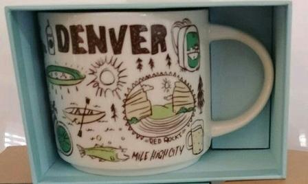 Starbucks City Mug Been There Denver