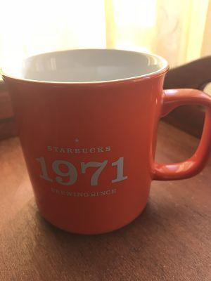 Starbucks City Mug Starbucks brewing since 1971 orange
