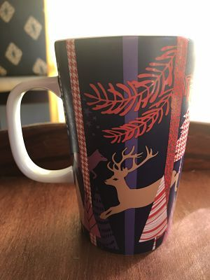 Starbucks City Mug 2017 deer and pine christmas 12 oz
