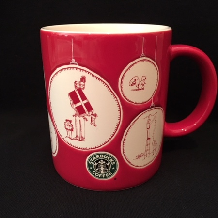 Starbucks City Mug 2005 Japan Christmas Ornaments Mug 14oz