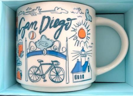 Starbucks City Mug Been There San Diego