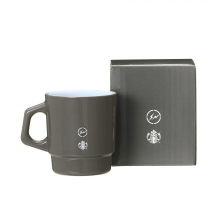 Starbucks City Mug 2018 Fragment Fireking Milk Glass Gray