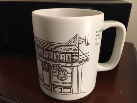Starbucks City Mug 2018 Pike Place 16oz Limited Edition Mug