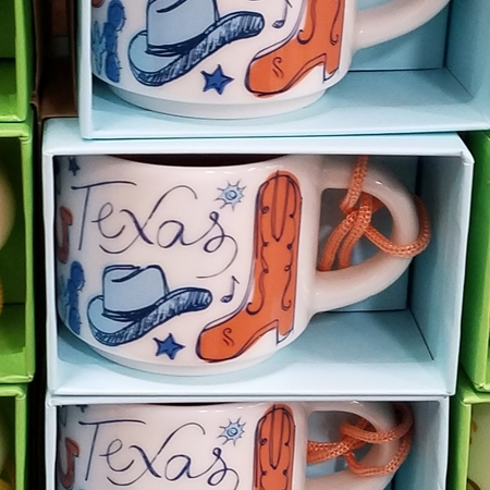 Starbucks City Mug 2018 Texas Been There Series Ornament