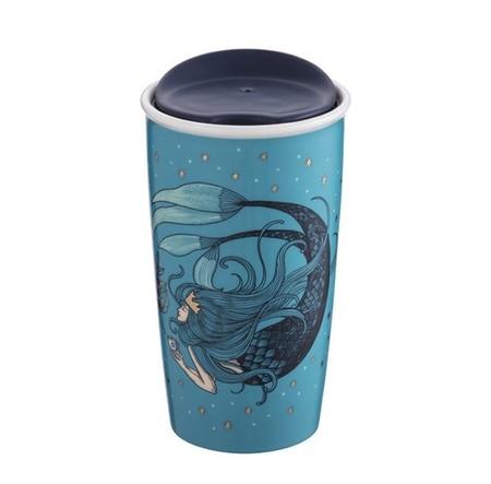 Starbucks City Mug 2018 Anniversary Swimming Siren Double Wall Traveler