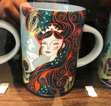 Starbucks City Mug 2018 Anniversary Artsy Siren Mug