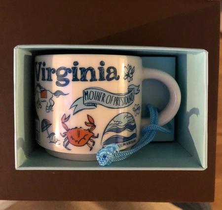 Starbucks City Mug Virginia BTC ornament