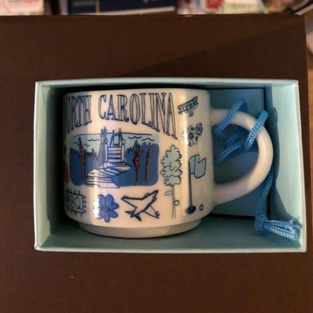 Starbucks City Mug North Carolina BTC ornament