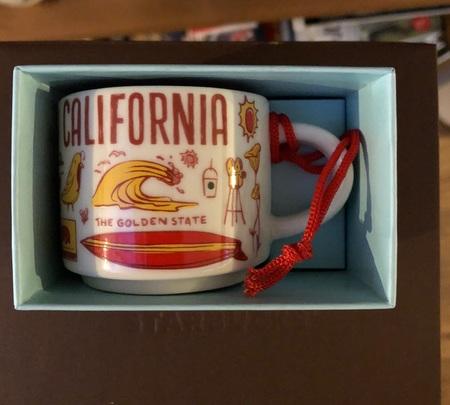 Starbucks City Mug California BTC ornament