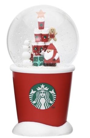 Starbucks City Mug 2018 Holiday Red Cup Snowdome