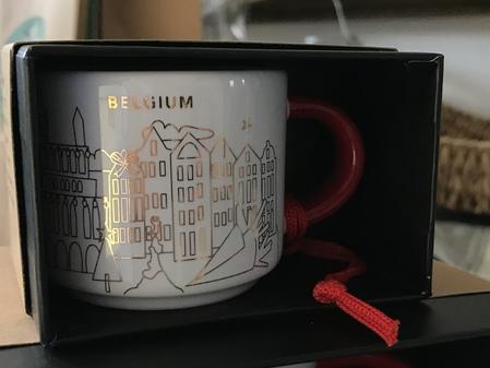 Starbucks City Mug Belgium Christmas Ornament mug 2018