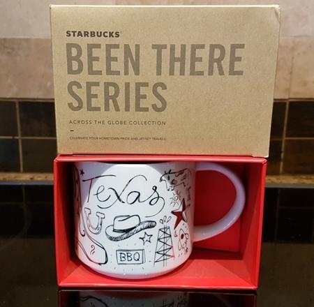 Starbucks City Mug 2018 Texas Gold Holiday Been There Series