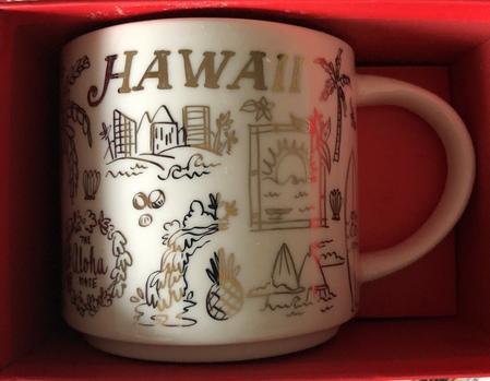 Starbucks City Mug 2018 Hawaii Gold Holiday Been There Series