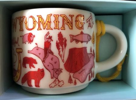 Starbucks City Mug Wyoming BTC ornament