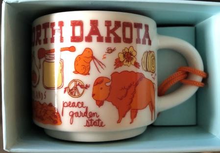 Starbucks City Mug North Dakota BTC ornament