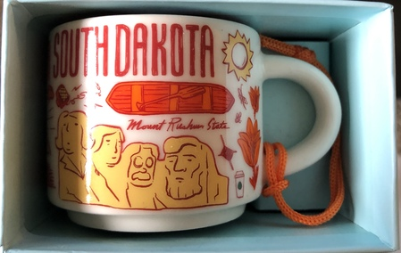 Starbucks City Mug South Dakota BTC ornament