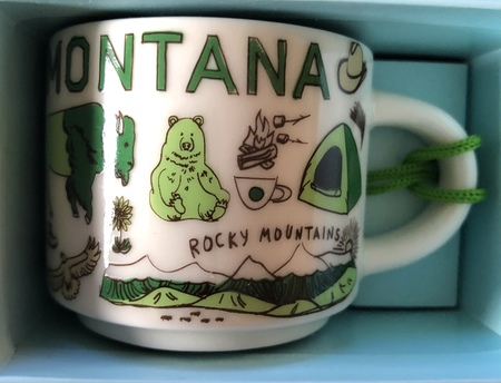 Starbucks City Mug Montana BTC ornament