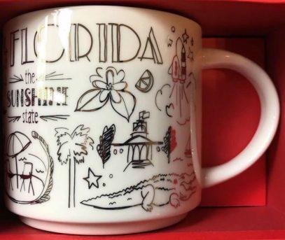 Starbucks City Mug 2018 Florida  Gold Holiday Been There Series