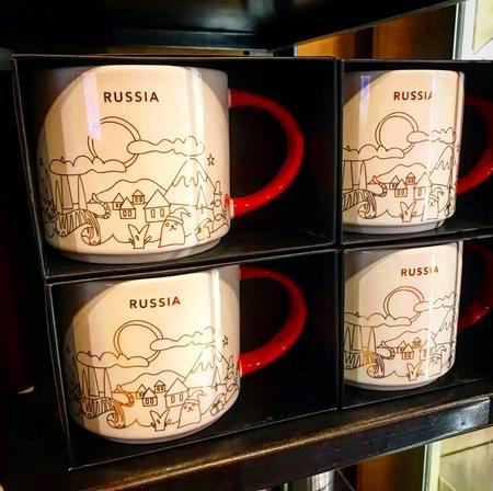 Starbucks City Mug Russia YAH Christmas 2018