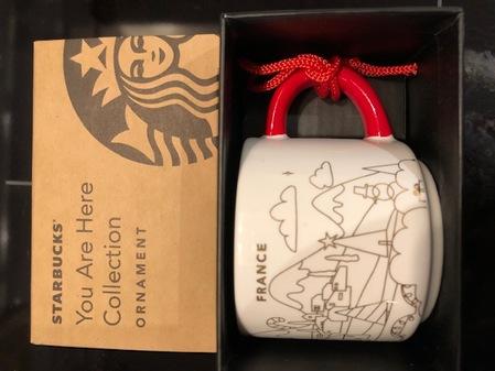 Starbucks City Mug France Christmas Ornament mug 2018