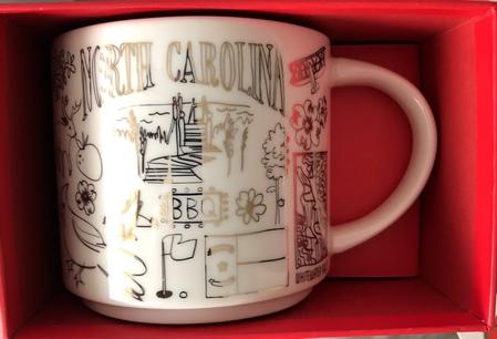 Starbucks City Mug 2018 North Carolina Gold Holiday Been There Series